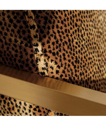 Fauteuil en velours motif léopard piètement carré - Tiger | Yesdeko