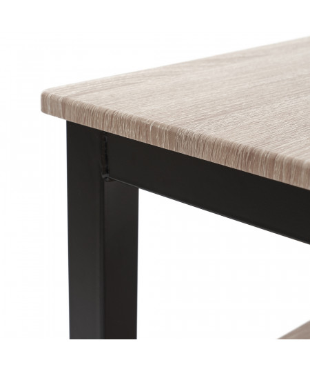 Set 1 table rectangulaire et 2 bancs assortis |YESDEKO