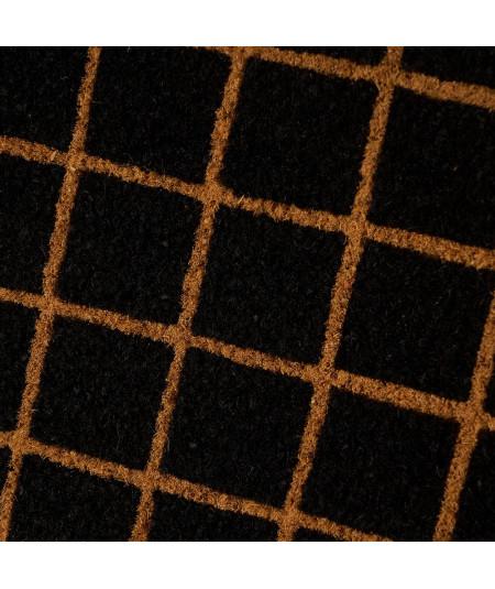 Paillasson coco allongé 75x25cm - Quadrillé beige |YESDEKO