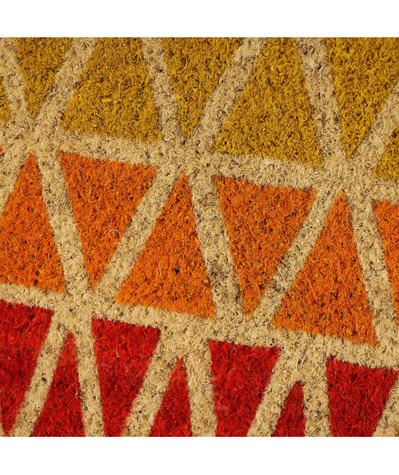 Paillasson coco allongé 75x25cm - Trio Orange |YESDEKO