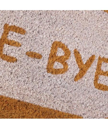 Paillasson coco bicolore 60x40cm - hello Bye |YESDEKO