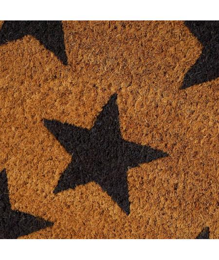 Paillasson coco motif étoile 60x40cm | Yesdeko