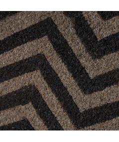 Paillasson coco gris, motif zigzag 60X40cm - Wave   Yesdeko