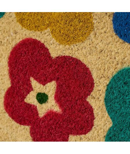 Paillasson coco fleur 60x40cm - Fleur   Yesdeko