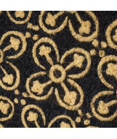 Paillasson coco motif mosaique noir 60x40cm | Yesdeko