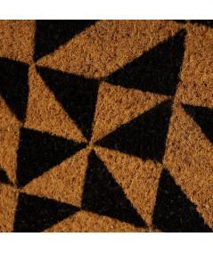 Paillasson coco beige et noir 60x40cm - Symetry |YESDEKO