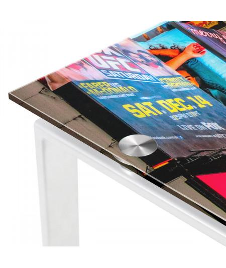 Bureau en verre 120x60x75 cm - New York   Yesdeko