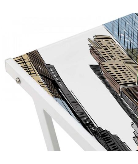 Bureau en verre 80x50x79 cm - Timesquare  | Yesdeko