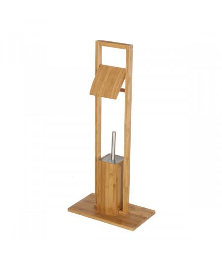 Porte rouleau en bambou et porte brosse |YESDEKO