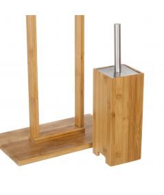 Porte rouleau en bambou et porte brosse  YESDEKO
