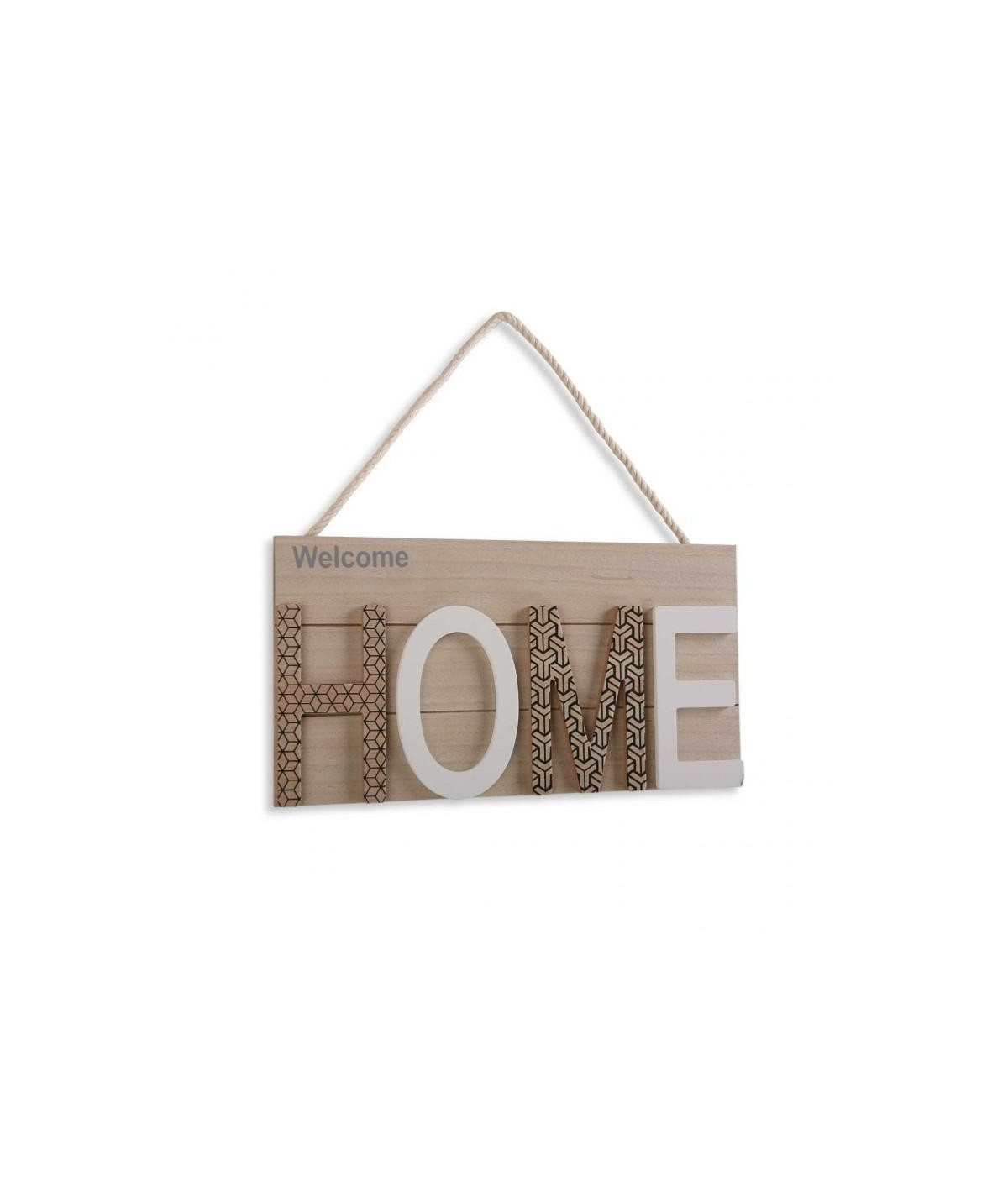 Cadre en bois clair avec corde 38x20cm - Home  YESDEKO
