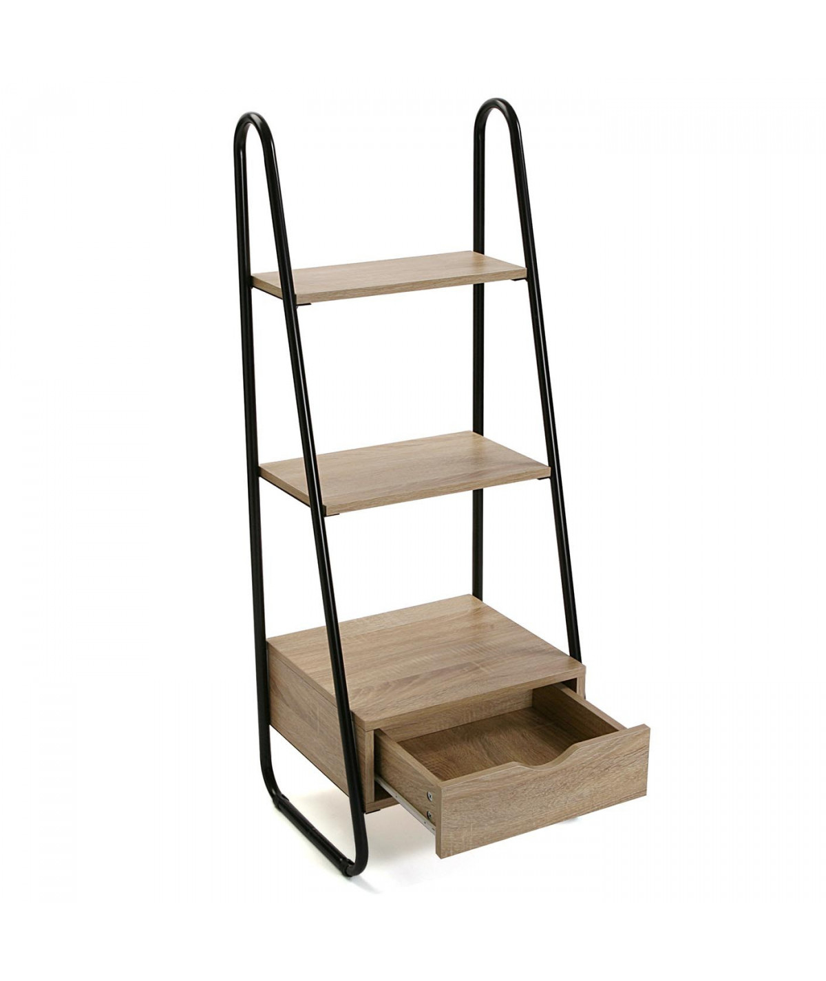 Meuble de rangement à 2 étagères 1 tiroir bas - Eva |YESDEKO