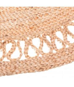 Tapis jute rond beige uni Diam120cm - Louna |YESDEKO