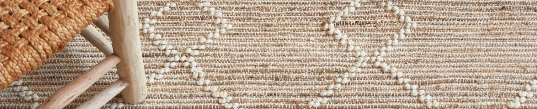Tous les tapis en jute, tapis en coton Tapis salon Paillasson |Yesdeko